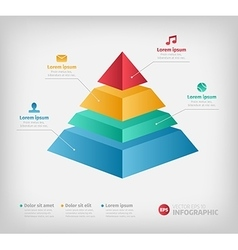 Pyramid cone info chart graphic for business vector