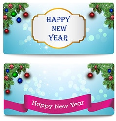 New year greeting cards vector