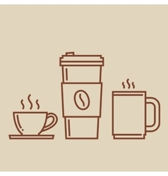 Coffee cups set vector