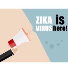 Hand holding megaphone - attention zika virus vector
