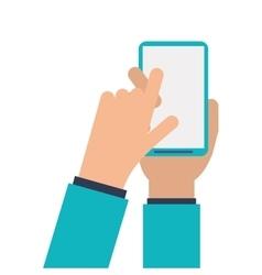 Human hand smartphone mobile vector