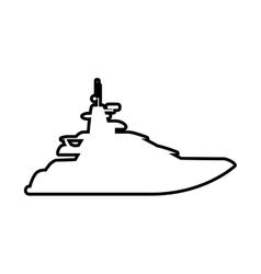 Yacht icon transportation design graphic vector