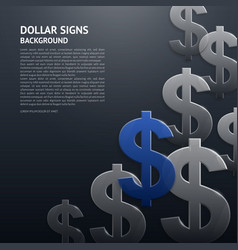 background with dollar signs vector image