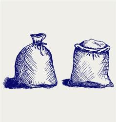 Bag flour vector image