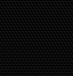 Black hexagon texture seamless background vector image vector image