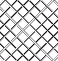 chrome metal grid diagonal seamless background vector image