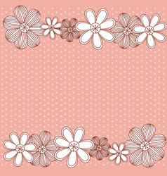 color pattern dotted with row flowers background vector image