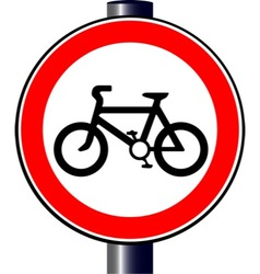 Cyclist sign vector