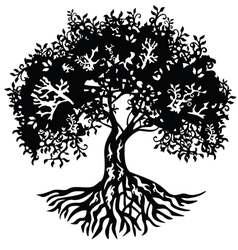 Decor silhouette tree vector