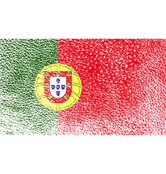 Flag of Portugal with old texture vector image vector image