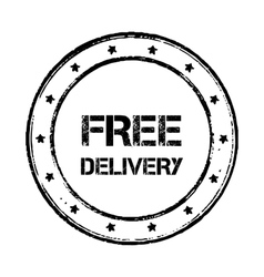 Free delivery badge vintage vector