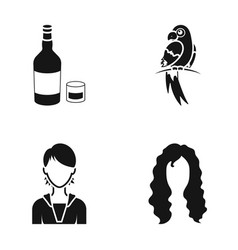 Hairdresser production nature and other web icon vector