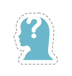 Head female question mark image vector