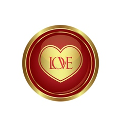 Heart icon with love vector image vector image