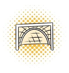 Hockey gates icon comics style vector image vector image