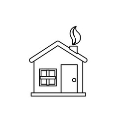 home ecology isolated icon vector image vector image