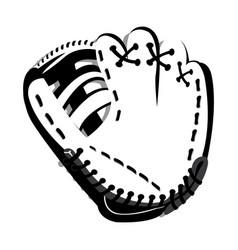 Isolated baseball glove vector