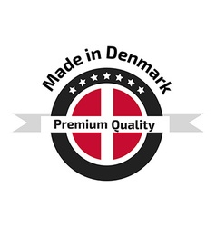 Made in Denmark labe vector image
