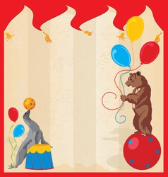 performing animals circus vector image vector image