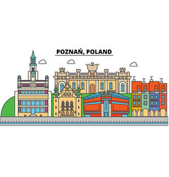 poland poznan city skyline architecture vector image