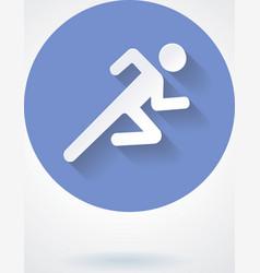 Run icon vector