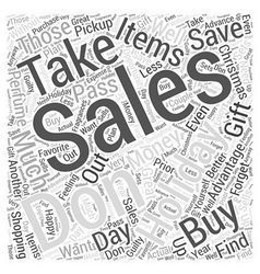 Save the most money with holiday sales word cloud vector