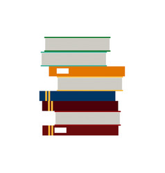 School stack book learn reading literature vector