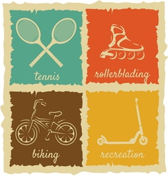 Set of Vintage Sport Labels vector image