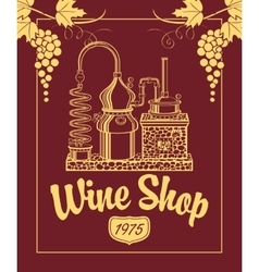Sign for the wine shop vector