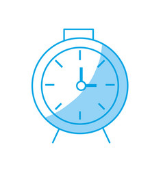 Silhouette clock design to know the time vector