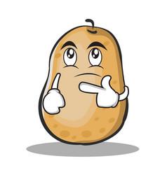 Thinking potato character cartoon style vector
