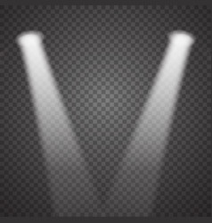 transparent realistic stage light effect vector image vector image