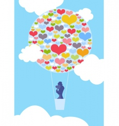 Valentine balloon vector