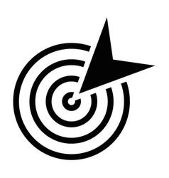 Black goal icon vector