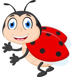 Cute ladybug cartoon vector