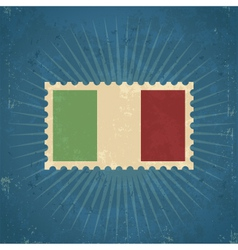 Retro italy flag postage stamp vector