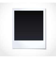 Polaroid photoframe on white background vector