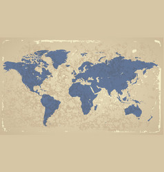 Retro-styled map of the World vector image