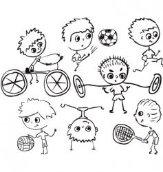 sports boy vector image