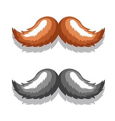 Image mustache black brown vector
