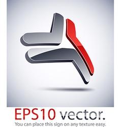 3d modern network logo icon vector