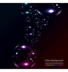 Soap bubbles on black background vector