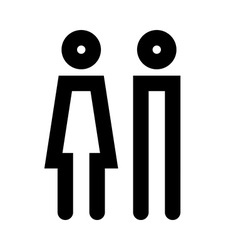 Man and women icon set vector