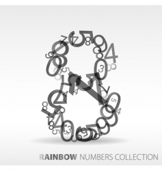 Number eight design elements vector