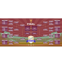 Football champions final spreadsheet vector