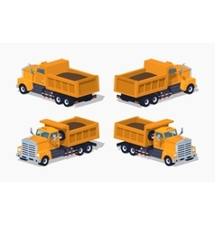 Loaded orange dumper vector