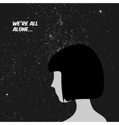 We are all alone concept vector