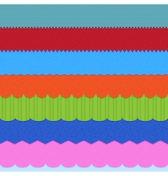 Set of 7 header backgrounds vector image