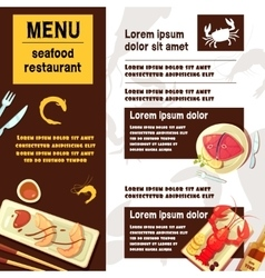 Sea food menu vector