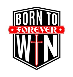 T shirt typography graphic born to win vector